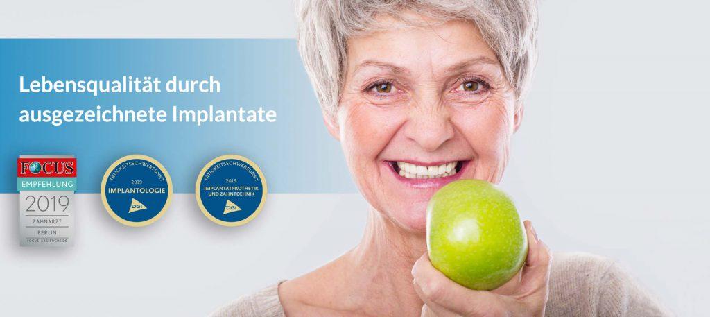 Zahnärzte-Zentrum Zehlendorfer Welle Implantate - Dientes nuevos y brillantes de profesionales certificados.