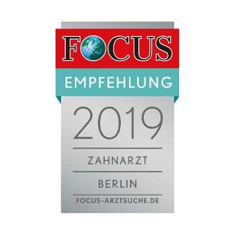 Zahnärzte-Zentrun Zehlendorfer Welle FOCUS Empfehlung Zahnarzt Berlin 2019